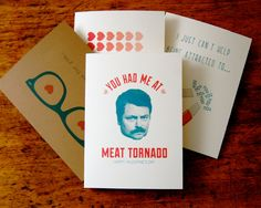 Funny Valentine's Day card! Ron Swanson quote, DIY Valentine's card, Parks and Recreation, Boyfriend, Husband, via Etsy.com