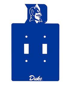 Look at this #zulilyfind! Duke Blue Devils  Double Light Switch #zulilyfinds