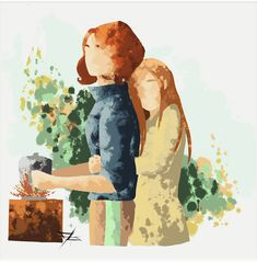 Cute Lesbian Couples, Lesbian Art, Cartoon Girl Drawing, Girl Cartoon, Waverly And Nicole, Romanogers, Film Music Books, Love Birds, Book Art