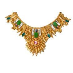 Valliyan 18Kt Gold Plated Goddess Necklace