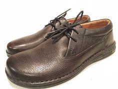 Birkenstock Men's Dark Brown Leather Oxfords Shoes Size 12 Regular Width/ Eur 45 #Birkenstock #Oxfords