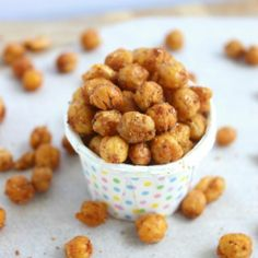 Simple, Healthy Oven Roasted Chickpeas. Simply seasoned & ready in under 20 mins Tasty & so healthy.