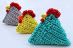 Gratis patroon van Petals to Picots Crochet Diy, Crochet Amigurumi, Crochet Home, Amigurumi Patterns, Holiday Crochet, Crochet Kitchen, Crochet Chicken, Easter Crochet Patterns, Crochet Animals