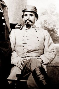 Confederate raider John Hunt Morgan (June 1, 1825 – Sep 4, 1864) was a Confederate general and cavalry officer in the American Civil War.  Morgan is best known for Morgan's Raid when, in 1863, he and his men rode over 1,000 miles covering a region from Tennessee, up through Kentucky, into Indiana and on to southern Ohio. This would be the farthest north any uniformed Confederate troops penetrated during the war.
