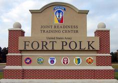 Ft. Polk, LA is where my son was born.