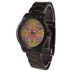 Freaky Tiki Kaleidoscope Vintage Womens Watch - accessories accessory gift idea stylish unique custom