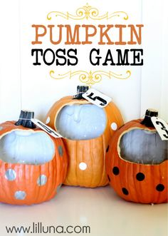 Pumpkin Toss Game - would be fun for class party!
