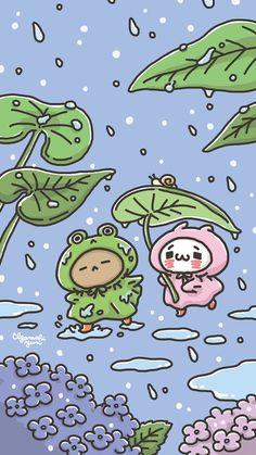 Cute Pastel Wallpaper, Soft Wallpaper, Cute Patterns Wallpaper, Cute Anime Wallpaper, Wallpaper Iphone Cute, Cute Cartoon Wallpapers, Aesthetic Iphone Wallpaper, Animes Wallpapers, Japon Illustration