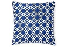 Ross 20x20 Outdoor Pillow, Blue
