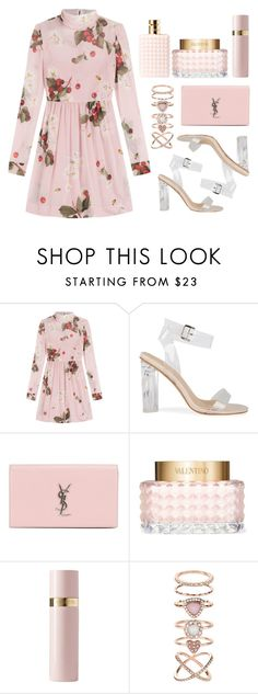 """""""Saros series 37"""" by m-phil ❤ liked on Polyvore featuring RED Valentino, Yves Saint Laurent, Valentino, Accessorize, floral, Pink, YSL, valentino and yvessaintlaurent"""
