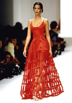 1994. Valentino Spring Summer Ready to Wear. Model Christy Turlington