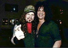 2 of the greatest having fun. Dimebag Darrell & Slash #Pantera #GunsNRoses