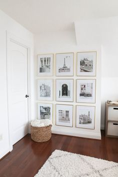 My Gallery Wall Reveal + How I Planned the Photos & Hung the Frames! (Daily Dose of Charm) Ikea Gallery Wall, Gallery Wall Frames, Gallery Walls, Frame Wall Collage, Frames On Wall, Gold Frames, Long Room, Entry Wall, Hanging Photos