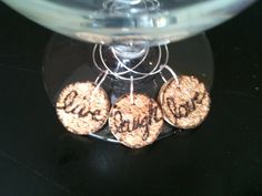 LIVE LAUGH LOVE Cork Wine Charms by AccentsHomeDecor on Etsy, $4.99