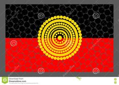 Vector Aboriginal Flag Design. - Download From Over 58 Million High Quality Stock Photos, Images, Vectors. Sign up for FREE today. Image: 77904381