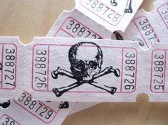 Poison Tickets by RawkMama on Etsy, $1.30