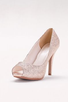 e8fb4a5169a3 So are these shoes! This glitter-dusted platform pair will be your go-to  for every celebration. Synthetic 4 heel with platform Imported. David s  Bridal