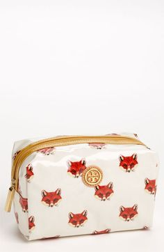 fox art on Tory Burch 'Brigitte' Cosmetics Case available at #Nordstrom
