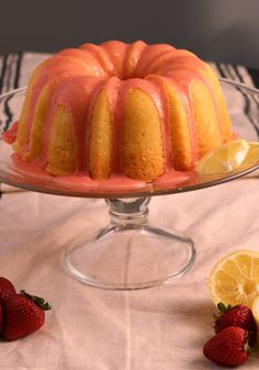 There is nothing artificial in this Lemon Pound Cake with Fresh Strawberry Icing. The cake is moist and the strawberry icing is out of this world! Strawberry Icing, Strawberry Cake Recipes, Pound Cake With Strawberries, Cupcake Cakes, Bundt Cakes, Cupcakes, Brownie Recipes, Dessert Recipes, Pond Cake
