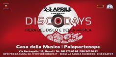 Come anticipazioni delle iniziative previste nel programma definitivo della prossima edizione di DiscoDays, che si svolgerà come di consueto presso la Casa della Musica c/o Palapartenope (Via Barba…