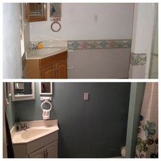 Bathroom before/after.