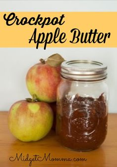 using apples to make a delicious treat, homemade crockpot apple butter is perfect. Easy to make and tastes great on breads and english muffins or just eat it straight from the jar!