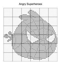 Cross Stitch - Angry Bird Superheroes 14 of 16 - spiderman