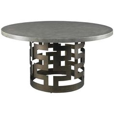Lillian August Belgrave Dining Table Base with Concrete Top