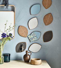 SJUDA Topfuntersetzern, in unterschiedlichen Farben bemalt, werden zur kreativen Pinnwand und zum praktischen Schlüsselboard.