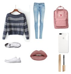 """"""""""" by ashdav56789 ❤ liked on Polyvore featuring AG Adriano Goldschmied and Converse"""