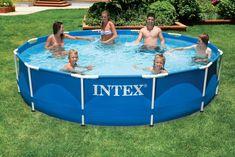 Mooi groot zwembad van Intex om met het hele gezin te genieten van een verkoeling op een warme zomerdag. Online te bestellen en snel geleverd!