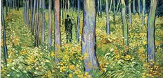 Undergrowth with Two Figures by @artistvangogh #postimpressionism