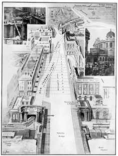 An illustration from 'The Sphere' magazine, dated May 1907. London History, The World's Greatest, Tour Guide, Old Things, Louvre, Magazine, Explore, City, Building