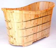 Hello Ofuro: ALFI brand AB1105 Free Standing Wood Bathroom Tub
