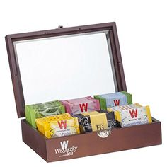 Wissotzky Tea 60 Dessert Flavored Teas in an Ebony Tea Chest - Flavors vary >>> Check this awesome product by going to the link at the image. Spearmint Tea, Teas 6, Tea Storage, Perfect Cup Of Tea, Amazon Coffee, Tazo, Tea Gifts, Tea Box, Pomegranate