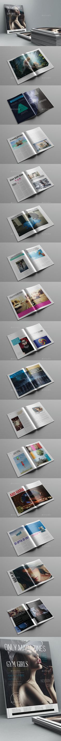 Only Magazine Template 32 Pages #design  Download: http://graphicriver.net/item/only-magazine-template-32-pages/12258729?ref=ksioks