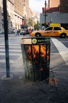 trash and fire