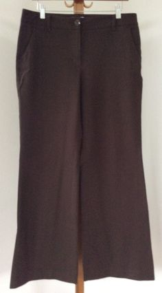 Talbots Dress Pants Size 10 Womens Stretch Flat Front Heavy Brown #Talbots #DressPants