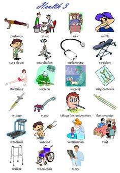 """""""Health"""" Vocabulary – How to talk about health problems in English – ESL Buzz Learn English Grammar, English Fun, English Vocabulary Words, Learn English Words, English Study, English Lessons, Learning English For Kids, English Language Learning, Teaching English"""