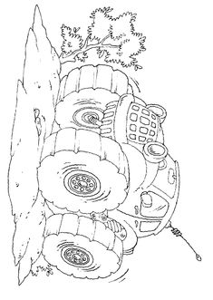 Simple Monster Truck Coloring Page - Free Coloring Pages Online Printable Coloring Sheets, Free Coloring Sheets, Coloring Pages For Kids, Coloring Books, Thanksgiving Songs For Preschoolers, Thanksgiving Preschool, Thanksgiving Song Lyrics, Semi Trucks, Big Trucks
