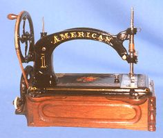 ❤✄◡ً✄❤ Manufactured in Philadelphia, USA, during the 1870s, this American (buttonhole, overseaming and sewing machine) has survived the years in fine condition. - http://www.dincum.com/library/lib_american1.html