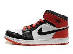 F4T6J080 authentique Nike Air Jordan 1 Retro Rouge Blanc Noir Chaussures Hommes, nike air jordan retro 1 pas cher
