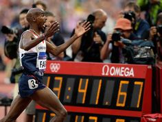 Great Britain's Mo Farah thrilled capacity crowds at the Olympic Stadium not once, but twice, during the track & field competition. Farah won the 10,000 meters, then completed a rare distance double by taking the 5,000.