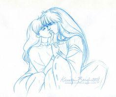 Inuyasha and kagome by KrisCynical deviatart.com