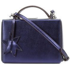 Mark Cross Saffiano Mini Grace Star Box - Midnight Blue (144.110 RUB) ❤ liked on Polyvore featuring bags, handbags, shoulder bags, kirna zabete, genuine leather shoulder bag, shoulder handbags, mini handbags, leather shoulder handbags and blue shoulder bag