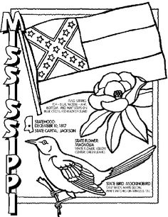 Popular Crayon Coloring Pages 53  Mississippi State Symbol