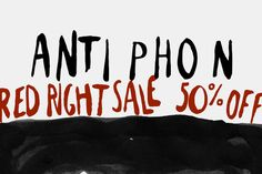 "Antiphon ""Red Right Sale"" 50% off! by Gustav & Brun on Creative Market"