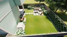 Inexpensive Backyard Makeover Under $5,000 — Yardzen | Online Landscape Design Poured Concrete, Concrete Pavers, Outdoor Seating, Outdoor Dining, Outdoor Decor, Star Jasmine Vine, Online Landscape Design, Organic Lawn Care