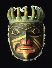 Haida Shaman Mask ~. The Northwest Coastal People - Religion / Ceremonies / Art / Clothing