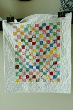 a quilt is nice: doll quilts - would be a nice layout for I-spy quilt